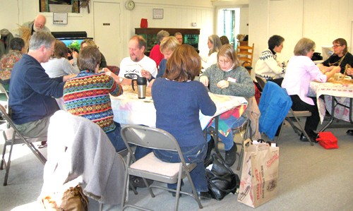 ARMN-sponsored seed-cleaning event at Long Branch Nature Center. Photo by Rodney Olsen.