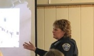 Corporal Beth Lennon provides active shooter training