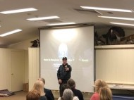 Sargent Chris Feltman provides active shooter training