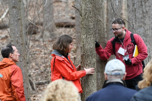 Photo of ARMN Member Emily Ferguson teaching tree ID