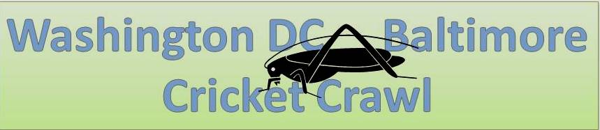 Logo for the Washington DC/Baltimore Cricket Crawl